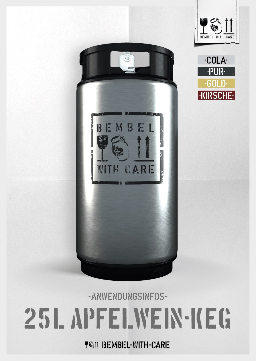 Bembel with Care 25 Liter Fass